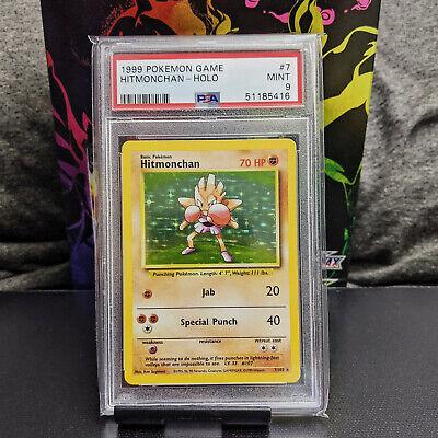 Pokemon Hitmonchan PSA 9 Mint 7/102 Unlimited Base Set Holo Card