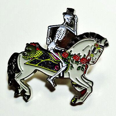 Grateful Dead Pin Carousel Skeleton Horseman Spring 1990 Too Other One Pinback