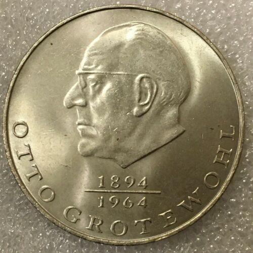 """1973 A East Germany DDR 20 Mark Coin """"Otto Grotewohl"""", free combined S/H."""