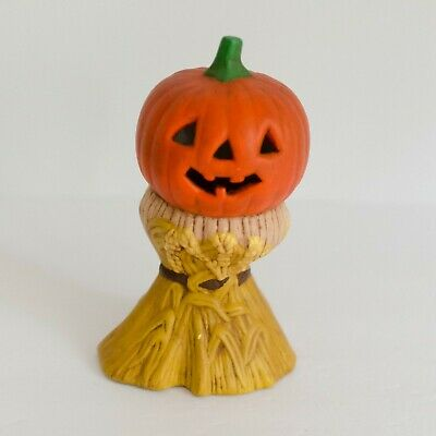 VINTAGE HALLOWEEN PUMPKIN Jack O Lantern CERAMIC MOLD, HAND PAINTED Fall Decor