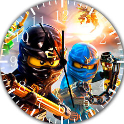 Lego Movie Ninjago Frameless Borderless Wall Clock Nice For Gifts Decor F81