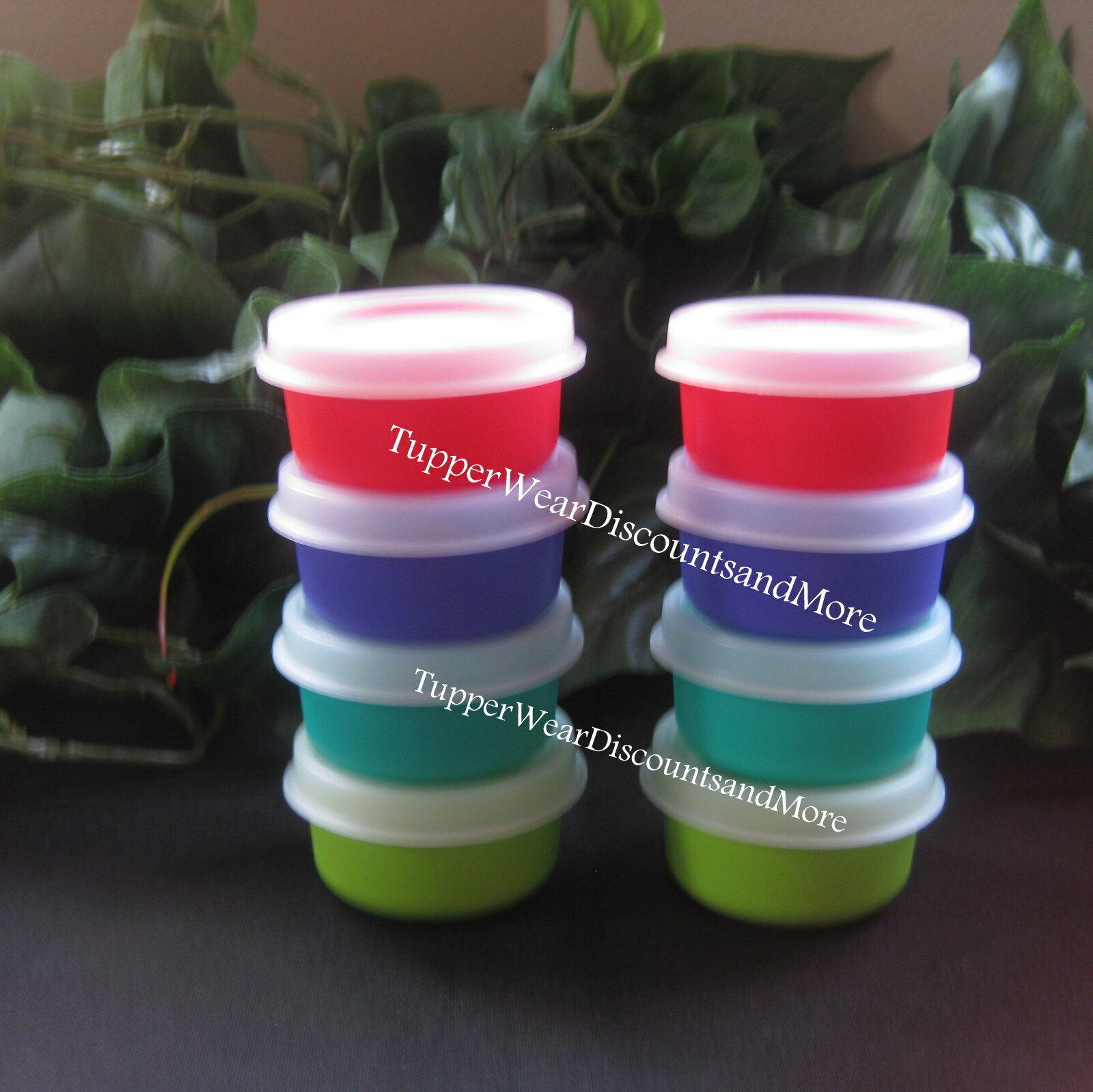 Разное Tupperware NEW 8 SMIDGET Smidgets Small Containers Purple Lime Green Teal Red