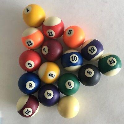 Vintage Pool Balls Aramith Belgium Full Complete Set Of 16 Size 2 1/4