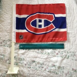 2 Montreal Canadiens Flags