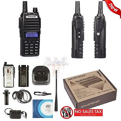 Portable Transceiver Handheld Scanner Radio Police Fire HAM Antenna and Battery