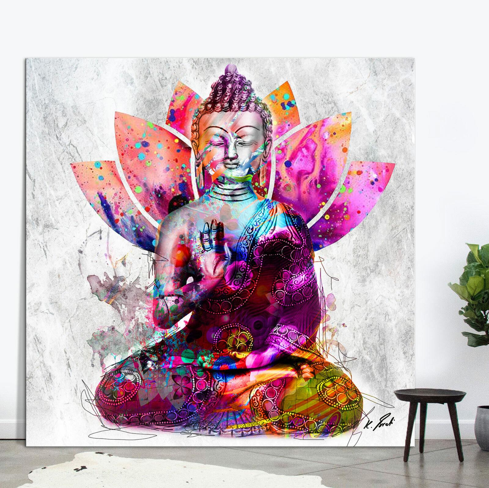 Buddha Bild Bunt Farbe Leinwand Abstrakte Kunst Bilder Wandbilder D1858