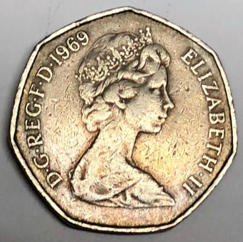 # c2428     GREAT BRITAIN     COIN,    50  PENCE   1969