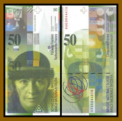 Switzerland 50 Francs, 2006 P-71c Low Digit S/N 00444XX Swiss Bank Unc