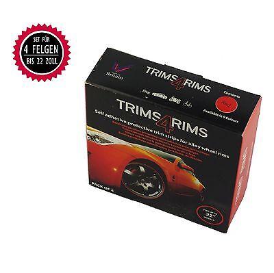 Trims4Rims by Rimblades Felgenschutz Styling Felgenringe Felgenaufkleber ROT RED