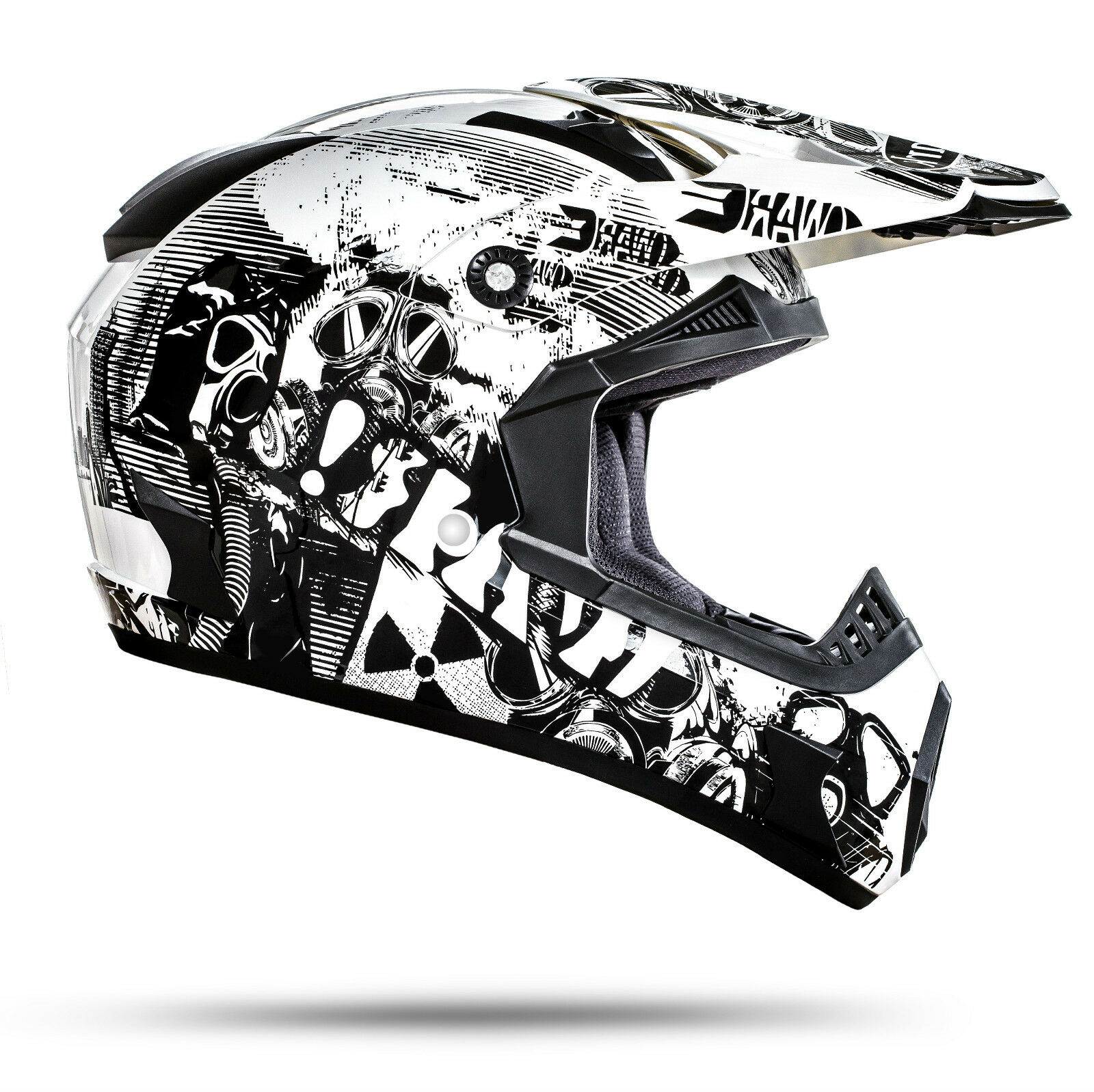 GS Nevada Motocross Helm Weiß Größe M ECE Norm Motorrad Enduro Quad Cross ATV
