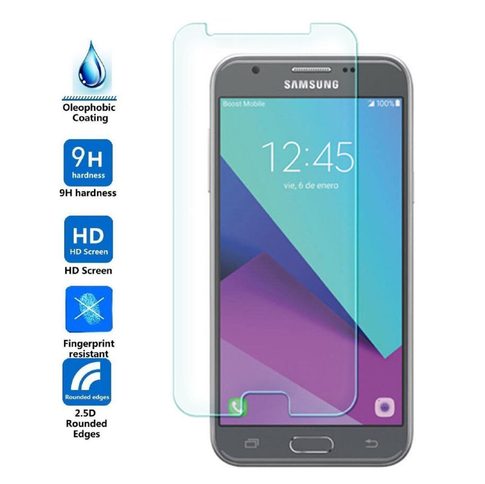 Cases, Covers & Skins Samsung Galaxy J3 Prime 2017 Premium Real Tempered Glass Screen Protector Film