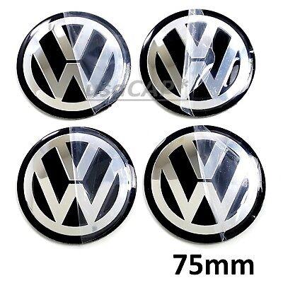 Vw 75Mm Wheel Center Hub Cap Decals Emblem Stickers Volkswagen Center Caps 3