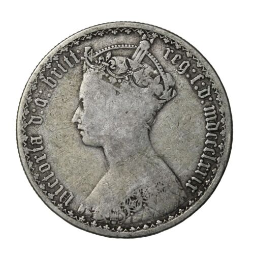1879 Great Britain Silver Florin 2 Shillings Queen Victoria Coin KM#746.4
