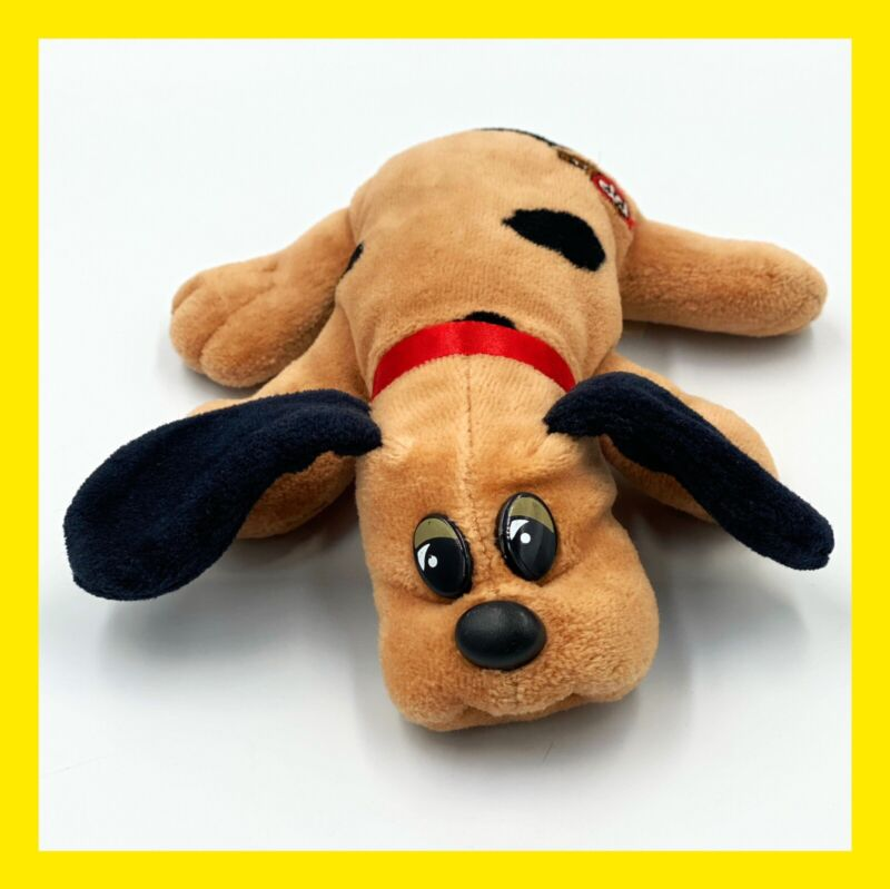 "Tonka Pound Puppies 9"" Brown & Black Vintage 80's Stuffed Toy CLEAN"