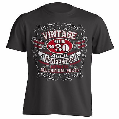 VINTAGE Aged Perfection Birthday Gift Shirt Great Gift Idea for Men and Women