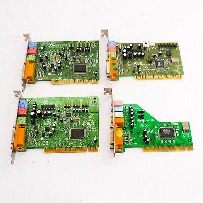 4 Soundkarten Audiokarten 2x Creative Labs 1x Labway 1x Mstech >mit