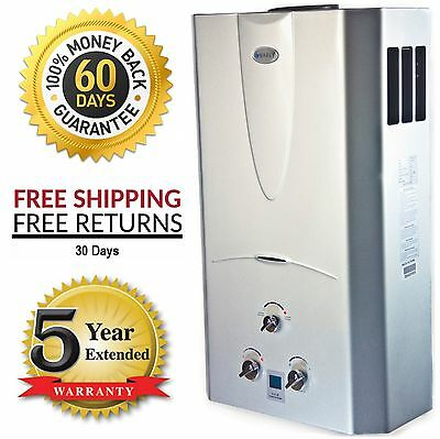 3 1 Gpm Tankless On Demand Hot Water Heater Propane Gas W  Digital Temperature