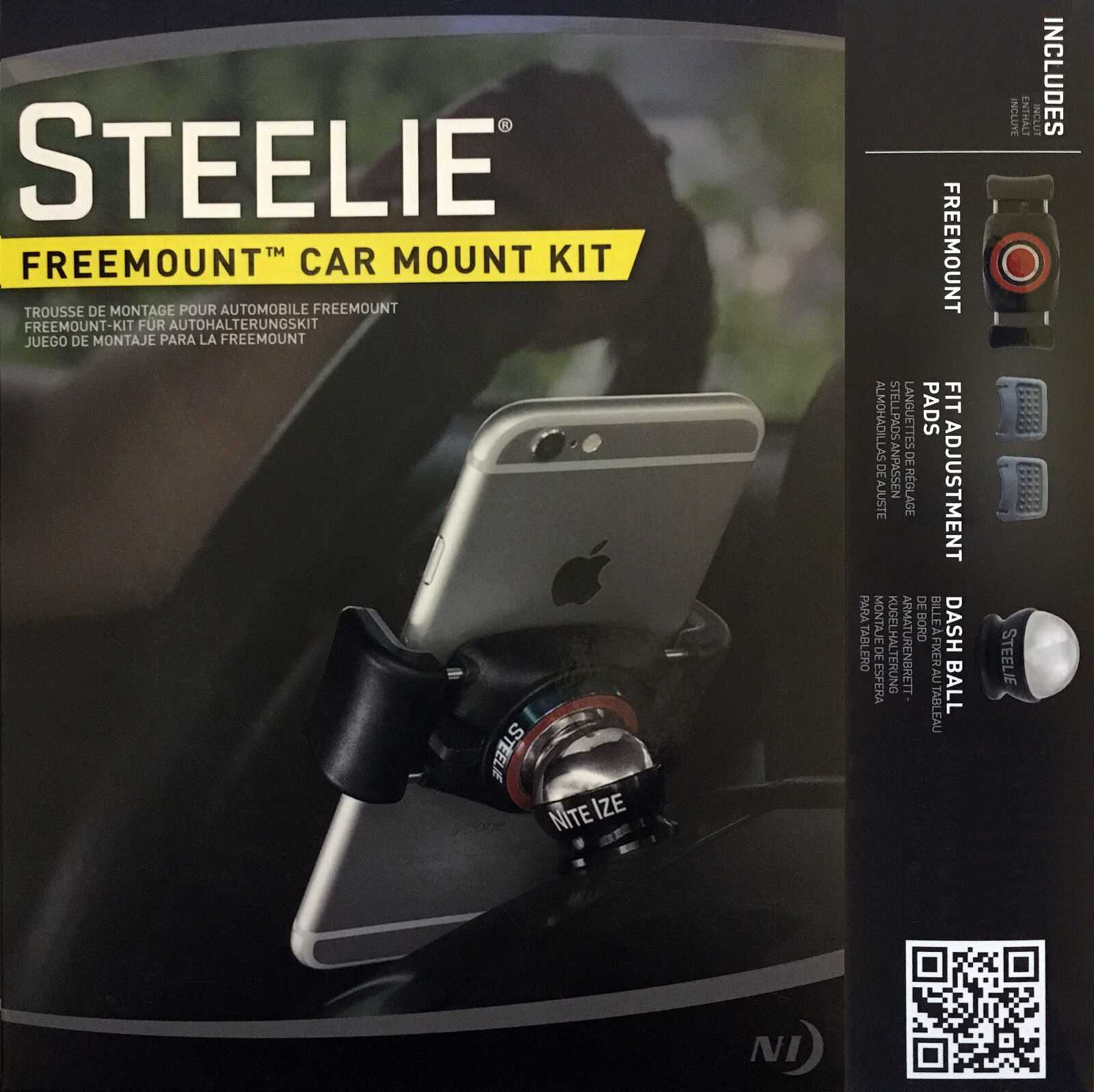 Купить Nite Ize Steelie Freemount Car Mount Kit w/ Dash Ball STFD-01-R8 - Universal
