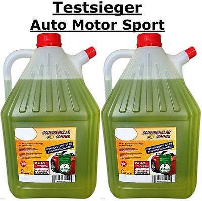 Klar Reiniger (2 X Auto SCHEIBENKLAR Scheibenreiniger Sommer, 5ltr. Testsieger)