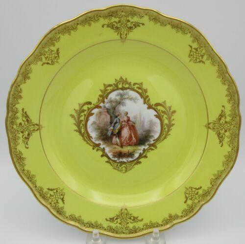 19th Century Meissen porcelain cabinet plate with portrait scene #3