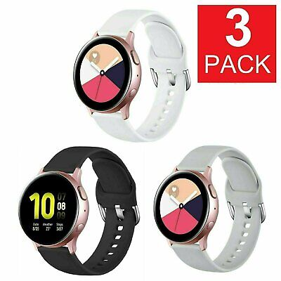 3-Pack  For Samsung Galaxy Watch Active 2 40 42 44mm Watch Band Silicone Strap Jewelry & Watches