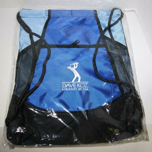 New In Plastic Dave Koz And Friends At Sea Draw String Bag Blue & Black
