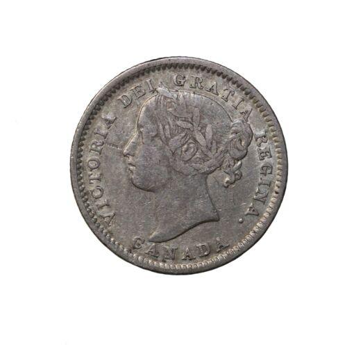 1899 Canada Small Date Silver Dime 10 Cents KM#3 Queen Victoria Coin