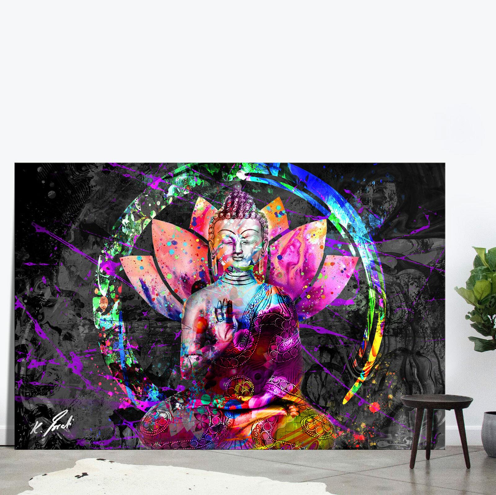 Buddha Bild Bunt Farbe Leinwand Abstrakte Kunst Bilder Wandbilder D2247