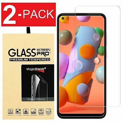 2-Pack Premium Tempered Glass Screen Protector For Samsung Galaxy A11 Cell Phone Accessories
