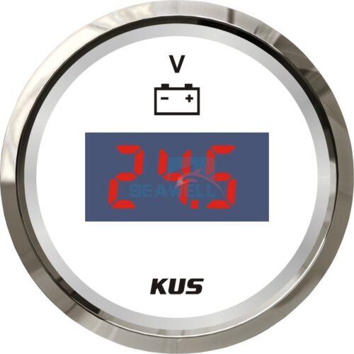 KUS Marine Digital LED Voltmeter Gauge Boat Car Battery Voltage Indecator 9-32V