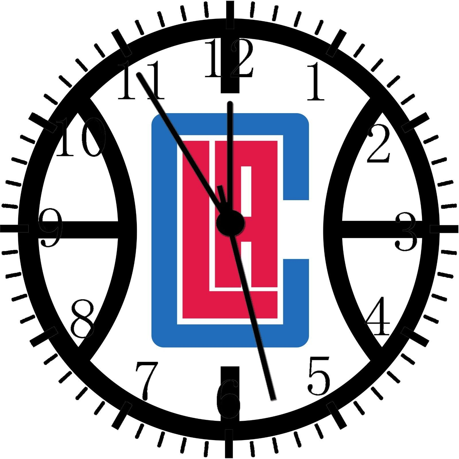 Los Angeles Clippers Frameless Borderless Wall Clock For Gifts or Decor E260