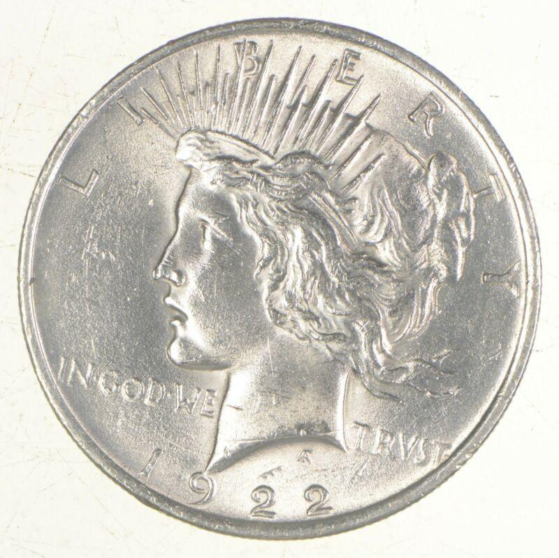 Choice AU/UNC 1922 Peace US Silver Dollar - 90% Silver - Philadelphia Minted
