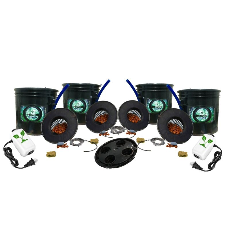 3.5G DWC 4pack Kit W/ Propagation Lid. Quality Made In S.D. by growers 4 growers
