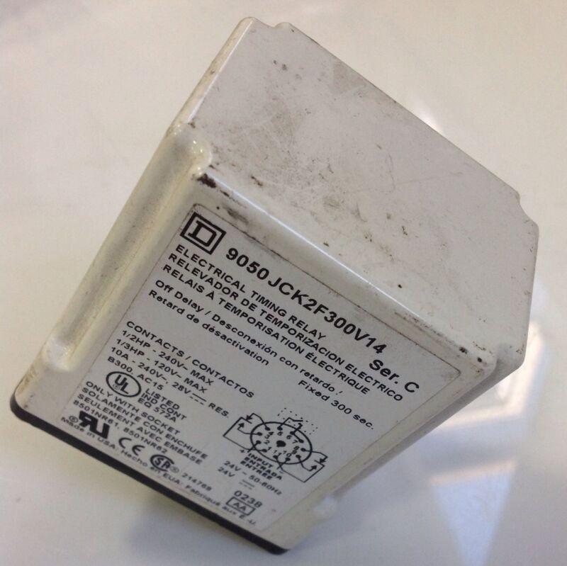 SQUARE D ELECTRICAL TIMING RELAY  9050 JCK2F300V14 SER C