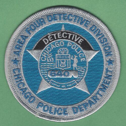 CHICAGO ILLINOIS AREA FOUR DETECTIVE DIVISION POLICE SHOULDER PATCH