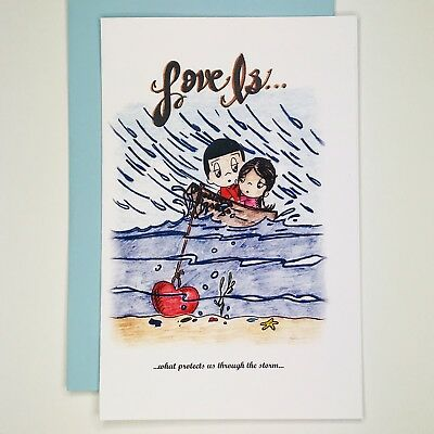 Love Is Greeting Card by Kim Casali (Thinking of you. Valentines Day) ()