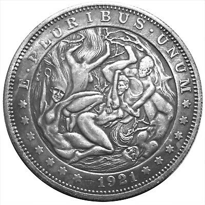 Witches Orgeee V1 Morgan Dollar Heads Tail Good Luck Token Coin US FAST SHIPPING