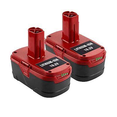 2Pack 6.0Ah 19.2V Lithium for Craftsman C3 Battery 315.115410 315.11485 13027...