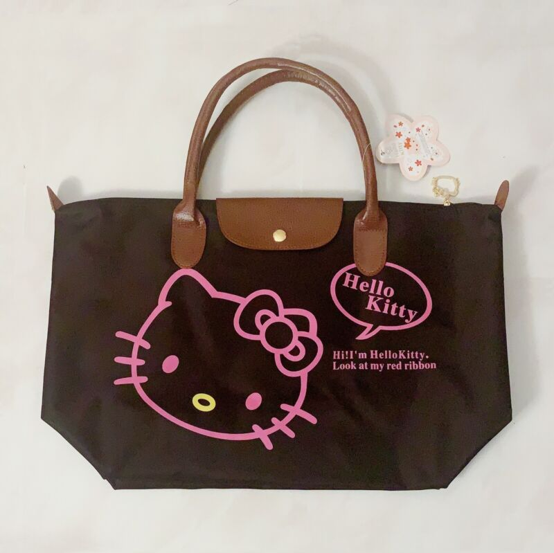 """Hello Kitty Tote Bag in Black~ Size 11.5""""x18""""x6"""""""