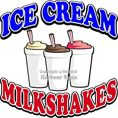 Ice Cream Milkshakes Decal Choose Your Size Food Truck Concession Sticker