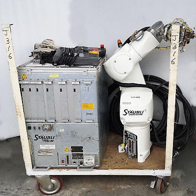 4886 Staubli Robot Controller W Teach Pendant Cables Cs8m Rx60b