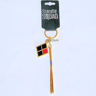 Harley Quinn Baseball Bat Metal Keychain DC Comics Suicide Squad Key Ring Chain