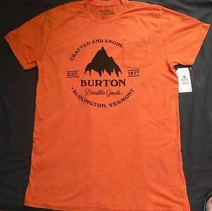 Burton Gristmill, new, Slim fit, SS, Red clay, Men's t-shirt, Siz Auchenflower Brisbane North West Preview