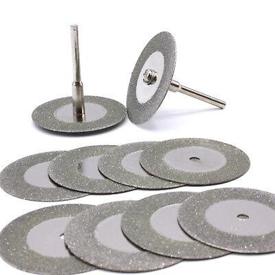 10x Disco de Diamante para Corte 35mm Cristal Metal Lijar Dremel Proxxon...