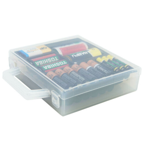 Battery Organizer Storage Case for AA AAA C D 9V Battery Container Holder Box
