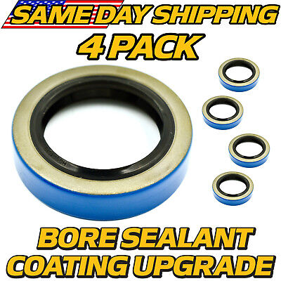 4 Pack 171255tb Double Lip Seal 3500lb Trailer Axle 84 Spindle Wbore Sealant