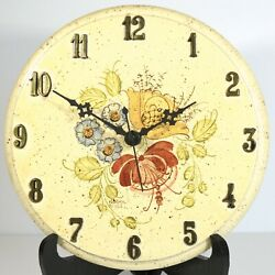 Handcrafted, Hand Painted Wood Wall Clock by Norma Wright