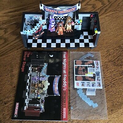 Used McFarlane Build Set Five Nights at Freddy's FNaF Show Stage *READ