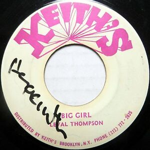 LEVAL-THOMPSON-45-Big-Girl-KEITHS-Label-ROOTS-Reggae-C764