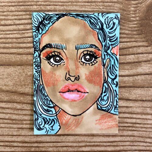 Janette Aceo / Artist Trading Card / Original Art Drawing Illustration - $0.99